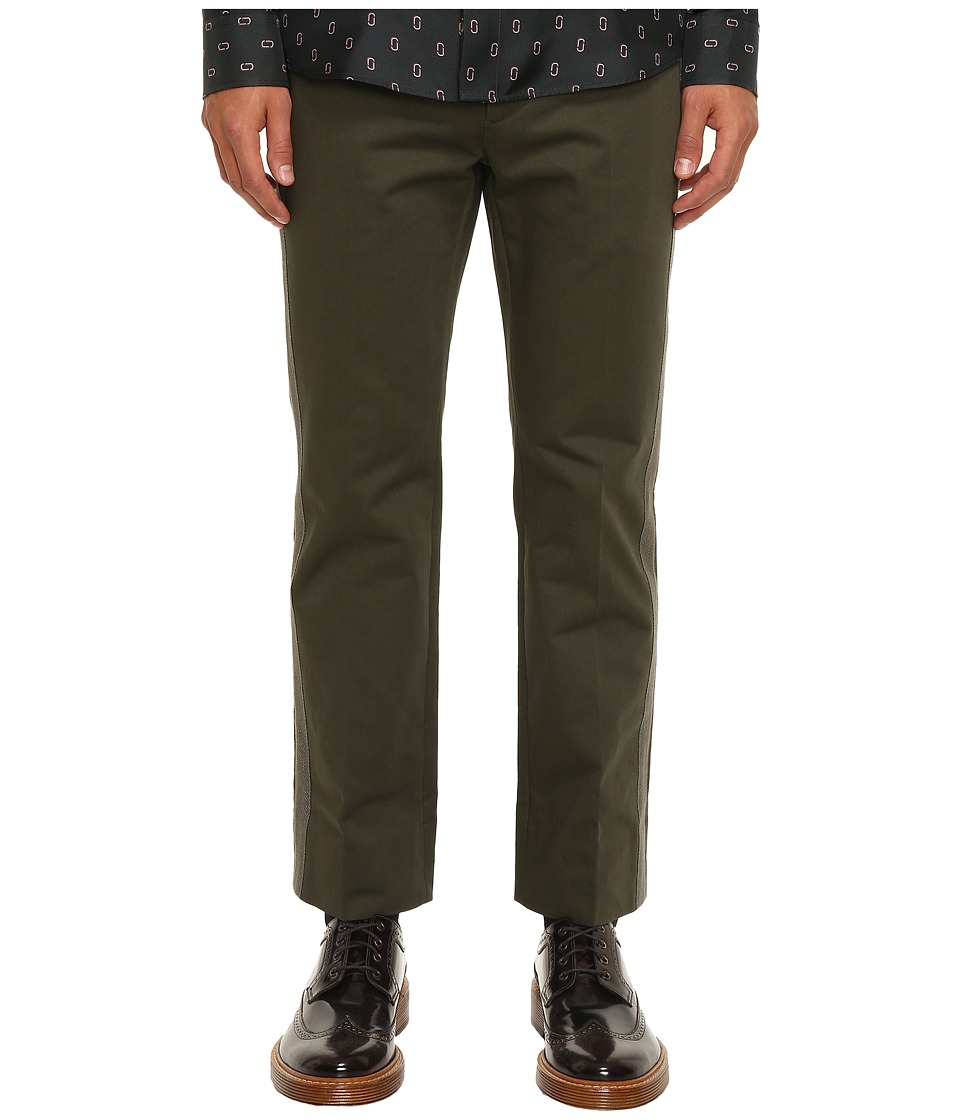 Marc Jacobs - Cotton Sateen Trousers (Forest Night) Men's Casual Pants