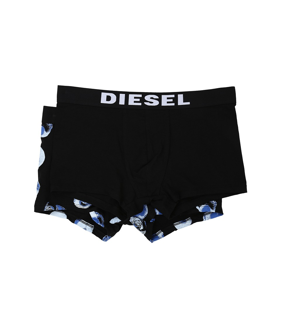 Diesel - Shawn 2-Pack Boxer Shorts BANI (Black/White Polka Dot/Black Solid) Men's Underwear