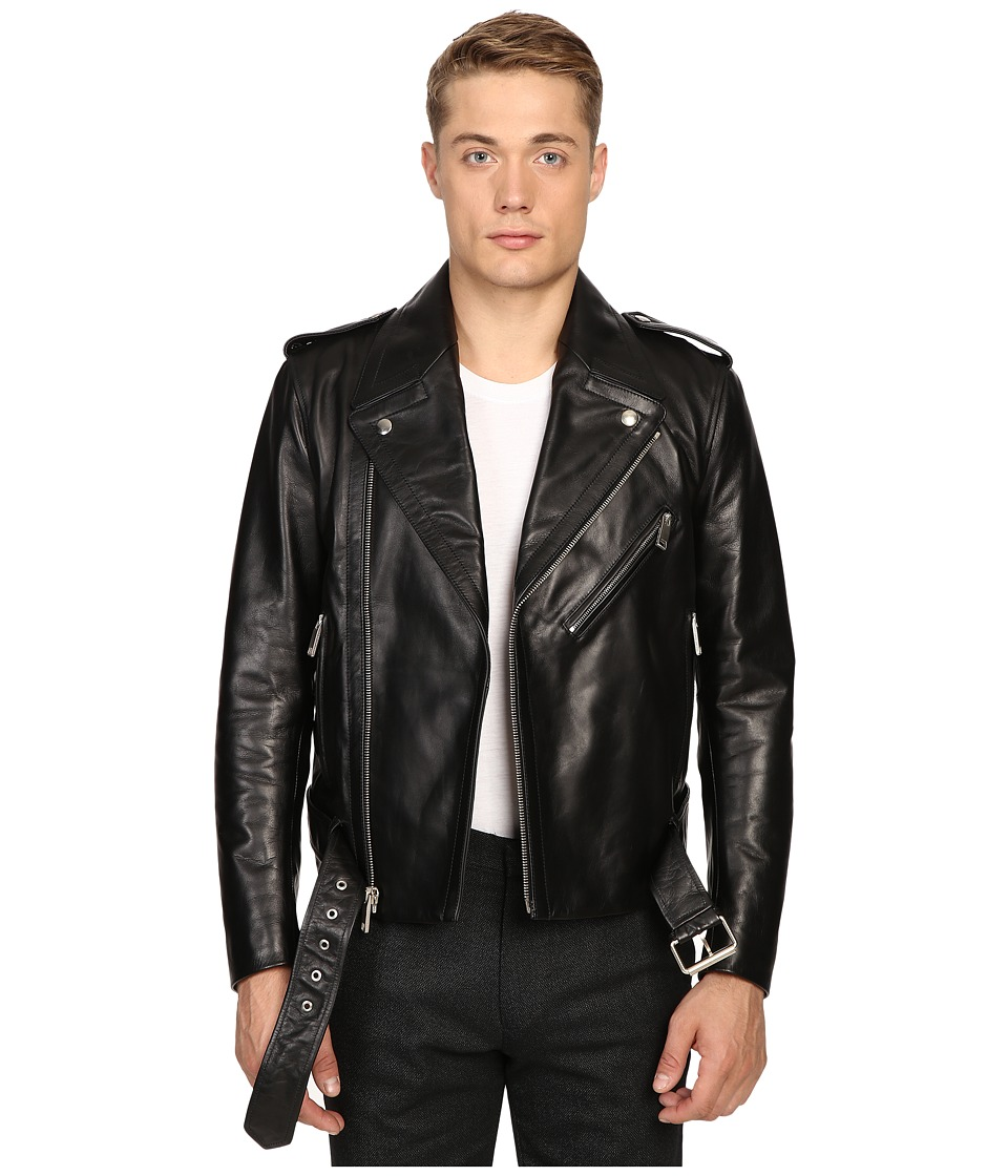 Marc Jacobs - Crosby Leather Jacket (Black) Men's Coat