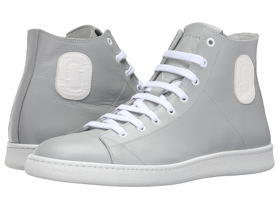 Marc Jacobs - Clean Nappa High Top Sneaker (Grey) Men's Shoes