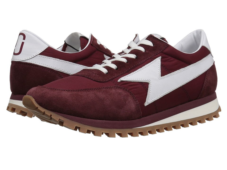 Marc Jacobs Nylon Runner Jogger Sneaker Bordeaux Mens Shoes