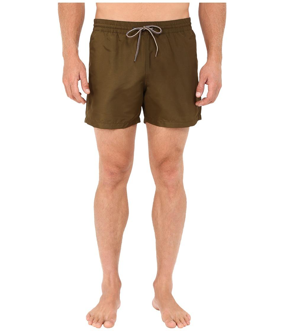 Paul Smith Classic Swim Shorts (Olive) Men