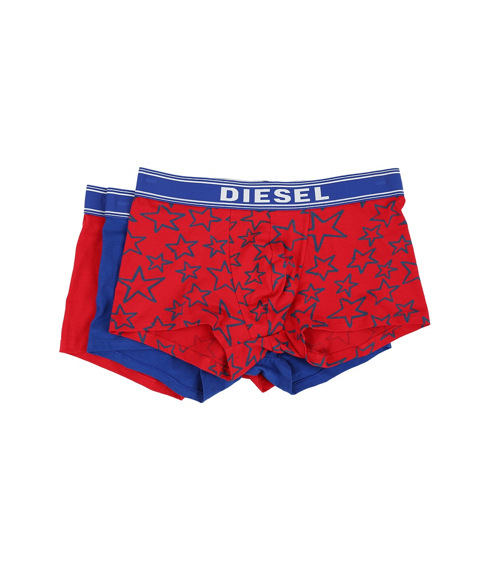 Diesel - Shawn 3-Pack Boxer Shorts CANA (Red Star/Royal Solid/Red Solid) Men's Underwear