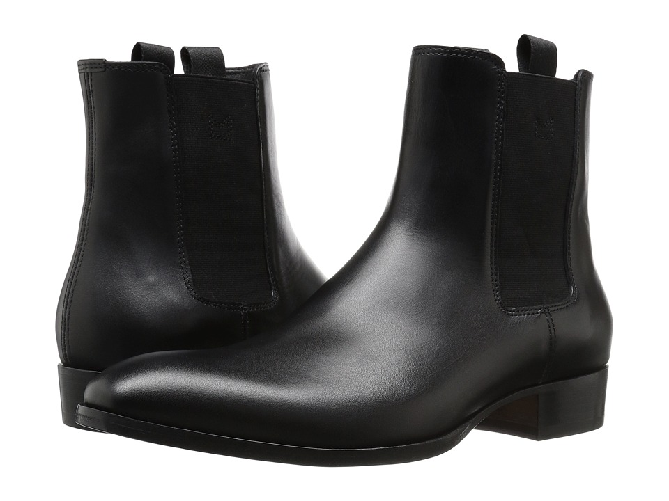 Marc Jacobs Classic Leather Chelsea Boot (Black) Men