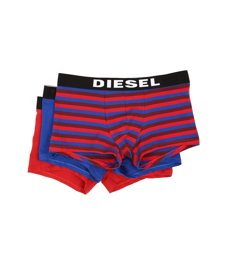 Diesel - Shawn 3-Pack Boxer Shorts BANH (Red Stripe/Royal Solid/Red Solid) Men's Underwear