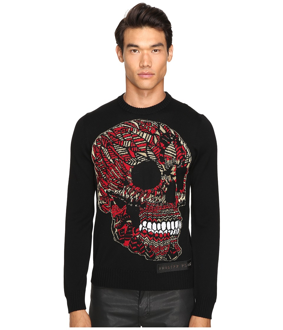 Philipp Plein - Castle Pullover (Black/Red) Men's Sweater