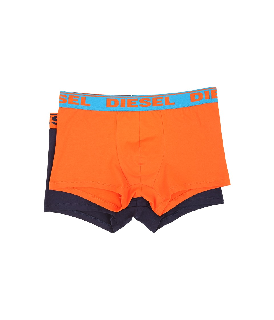 Diesel - Shawn Trunk AFM 2-Pack (Orange/Navy) Men's Underwear
