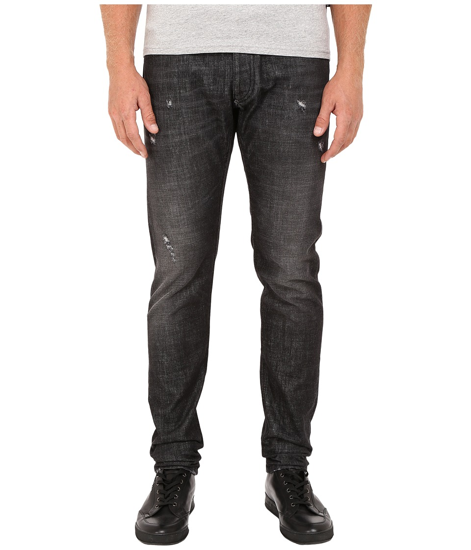 Philipp Plein - Straight Cut Hero Denim (Robin Black) Men's Jeans