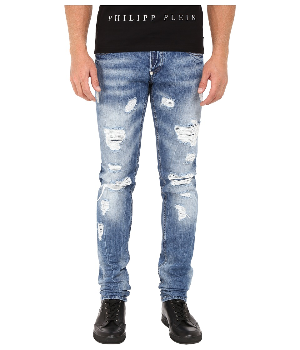 Philipp Plein - Straight Cut Desire Denim (Sunrise Blue) Men's Jeans