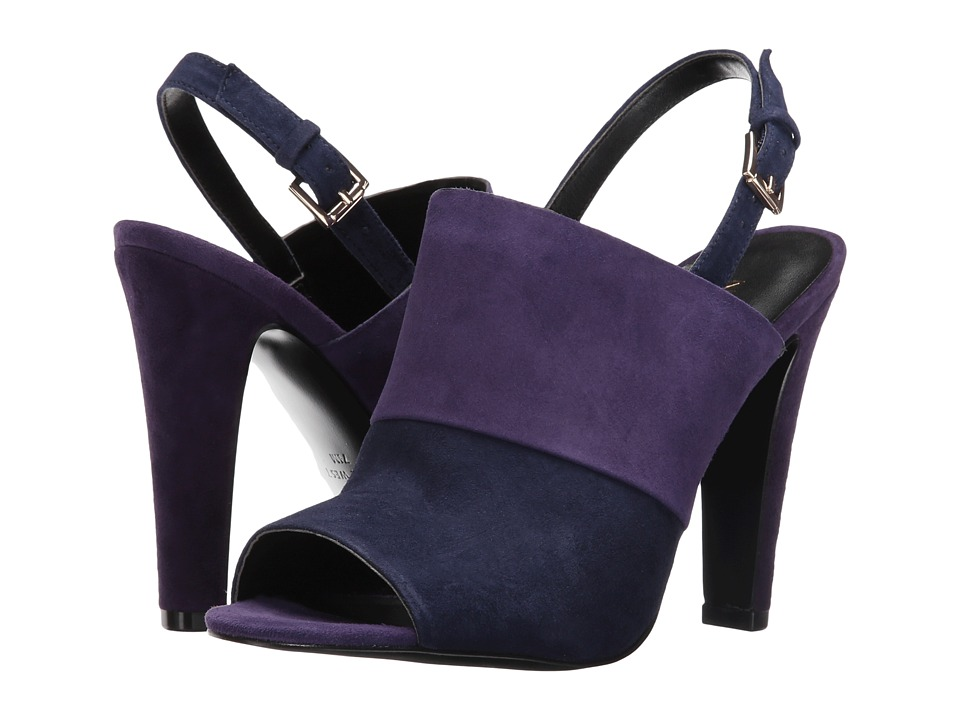 Nine West - Adaline (Navy Multi Suede) Women's Shoes
