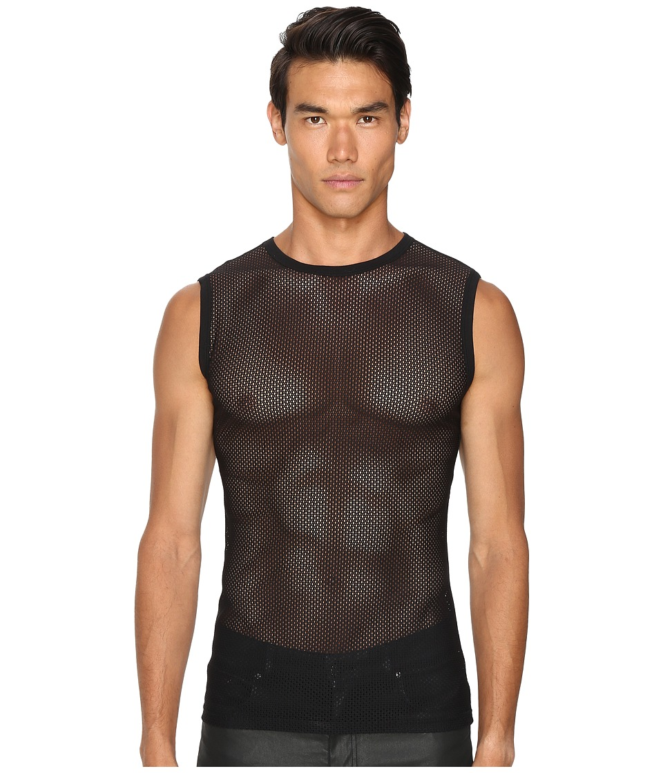 Versace - Mesh Tank Top (Black) Men's Underwear