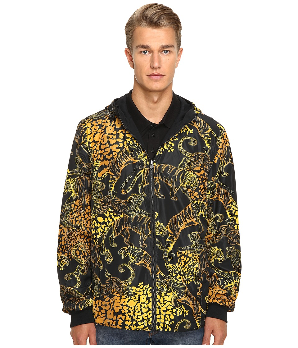 Versace Jeans - Hooded Jacket (Black) Men's Coat
