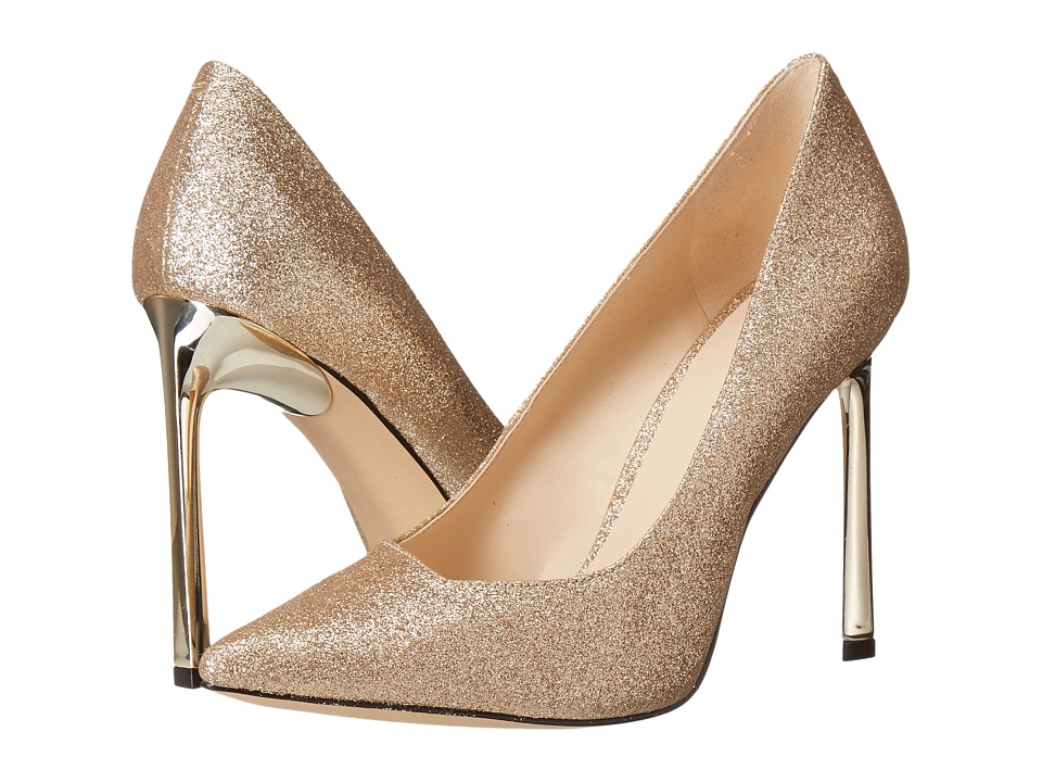 Nine West - Kaylee 3 (Light Gold Synthetic) High Heels