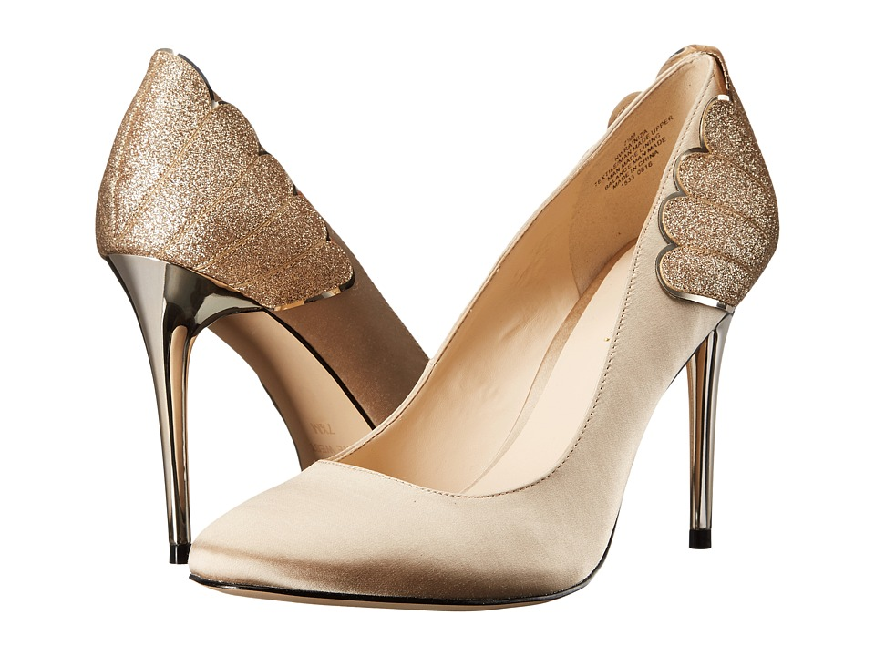 Nine West - Rainiza (Light Gold Multi Satin) High Heels