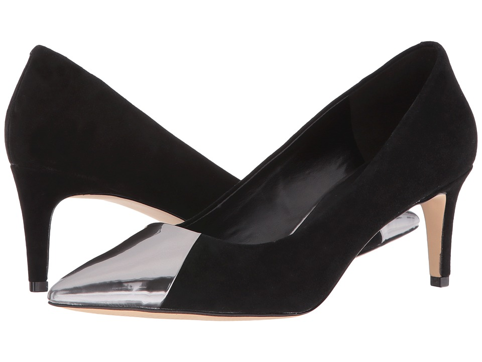 Nine West - Scenery (Black/Pewter Suede) High Heels