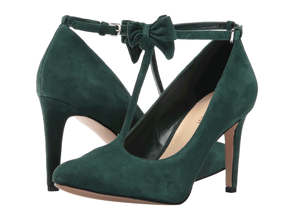 Nine West - Hollison (Dark Green Suede) High Heels