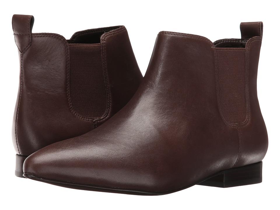 Nine West - Holdon (Dark Brown/Dark Brown Leather) Women's Slip-on Dress Shoes