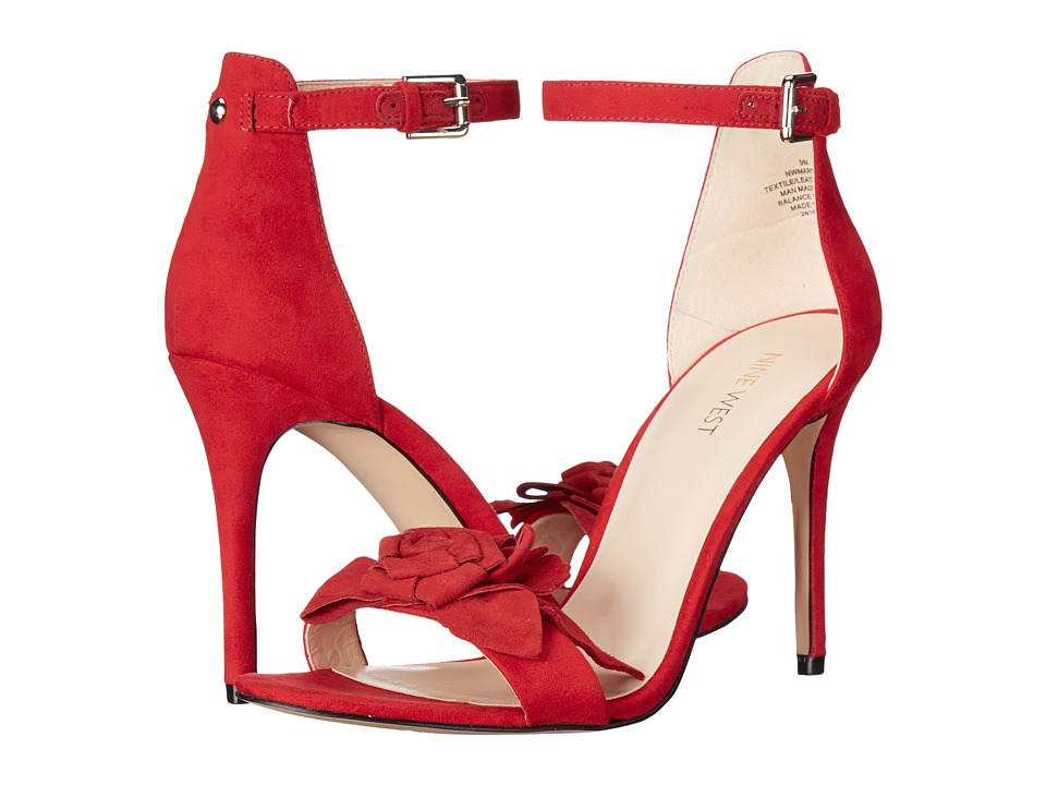 Nine West - Martine 2 (Red/Red Fabric) Women's Shoes