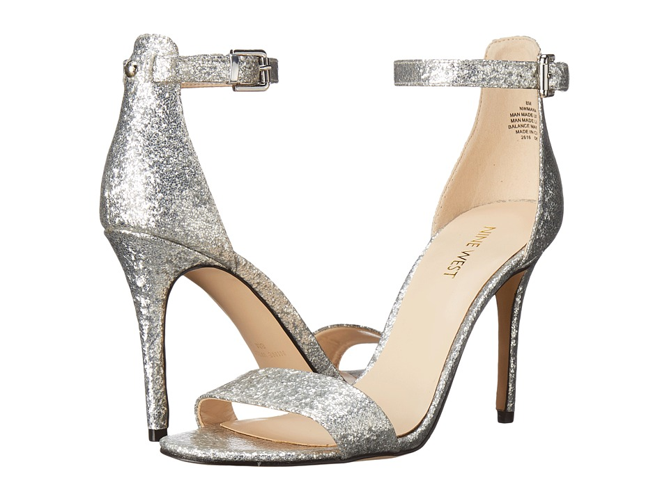 Nine West - Mana (Silver Synthetic) High Heels