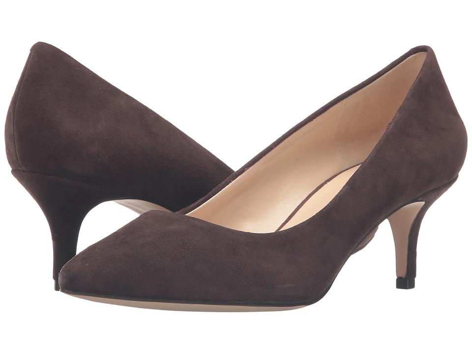 Nine West - Xeena (Dark Brown Suede) Women's 1-2 inch heel Shoes