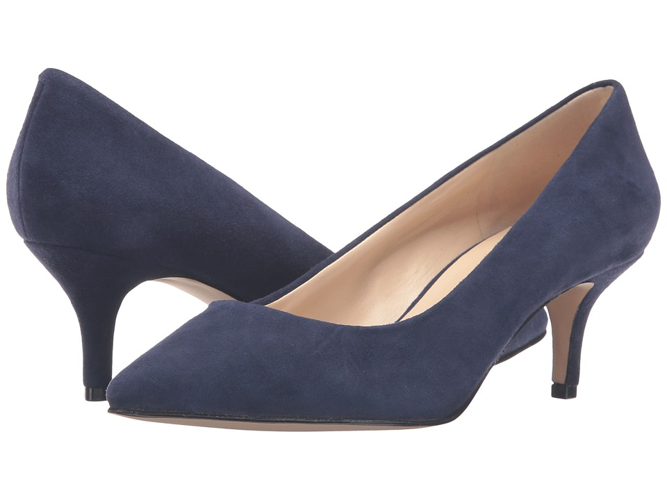 Nine West - Xeena (Dark Blue Suede) Women's 1-2 inch heel Shoes