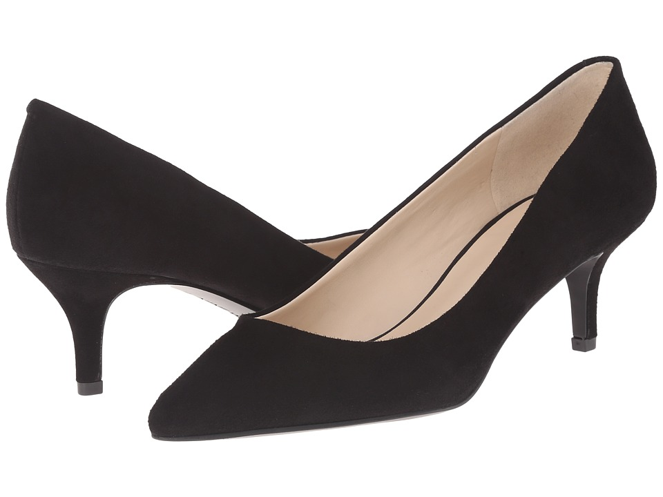 Nine West - Xeena (Black Suede) Women's 1-2 inch heel Shoes
