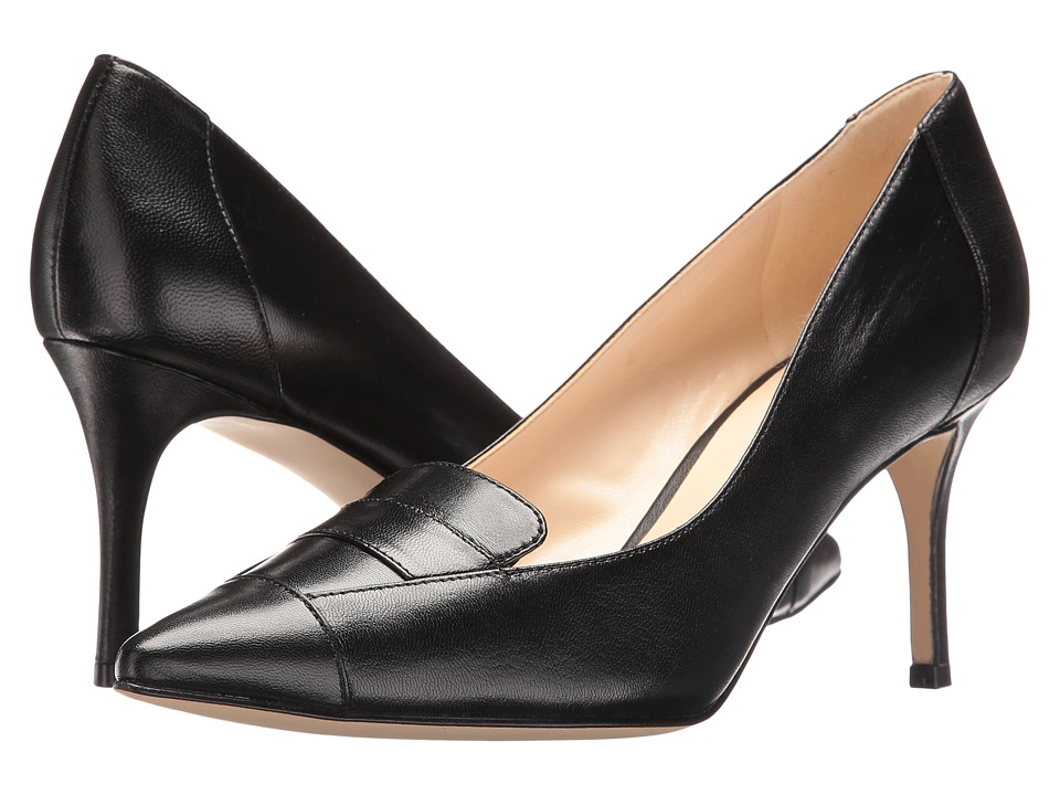 Nine West - Molina (Black Leather) High Heels