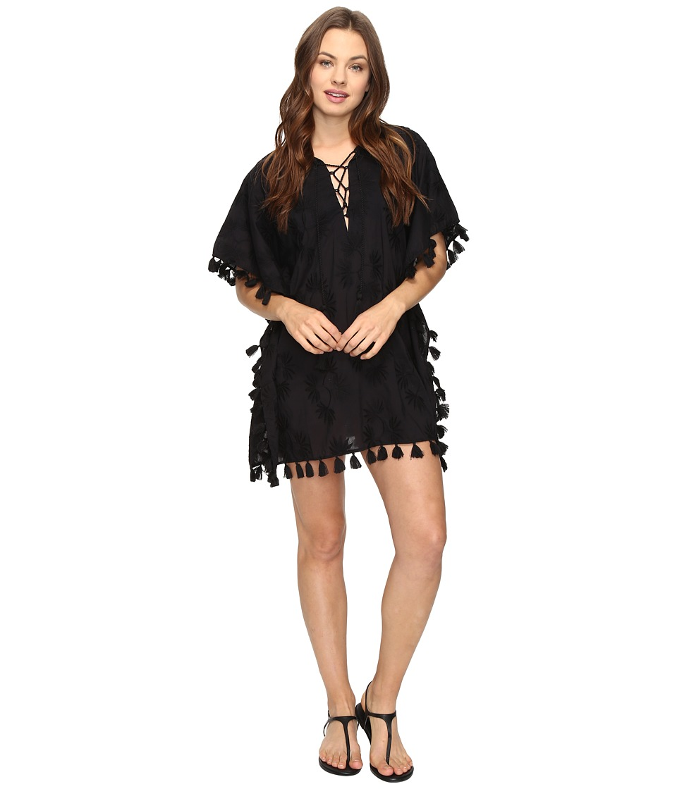 Seafolly - Embroidered Kaftan Cover-Up (Black) Women's Swimwear