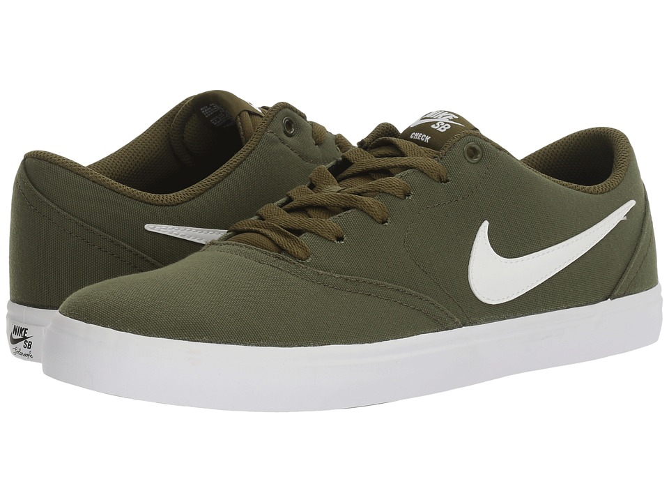 Nike SB - Check Solar Canvas (Legion Green/White) Men's Skate Shoes