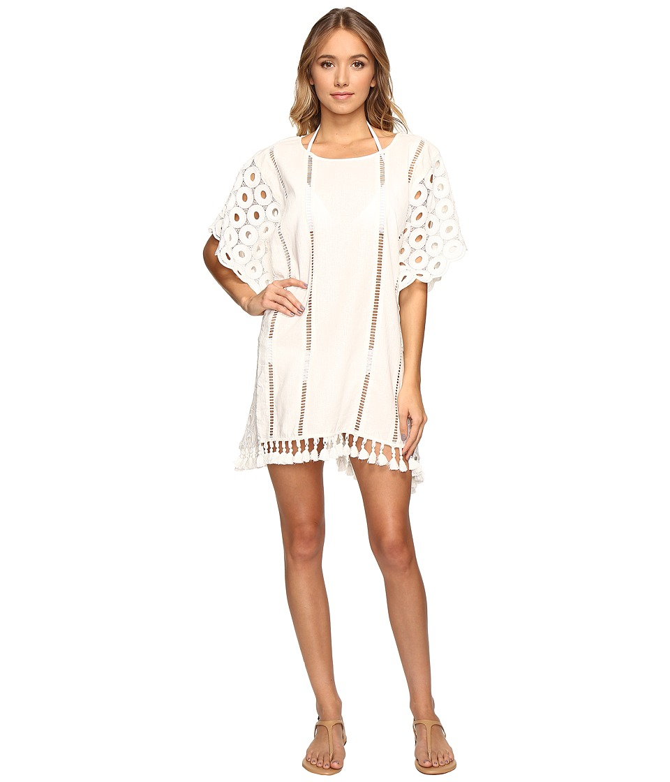 Seafolly - Broderie Beach Lace Kaftan Cover-Up (Milk) Women's Swimwear