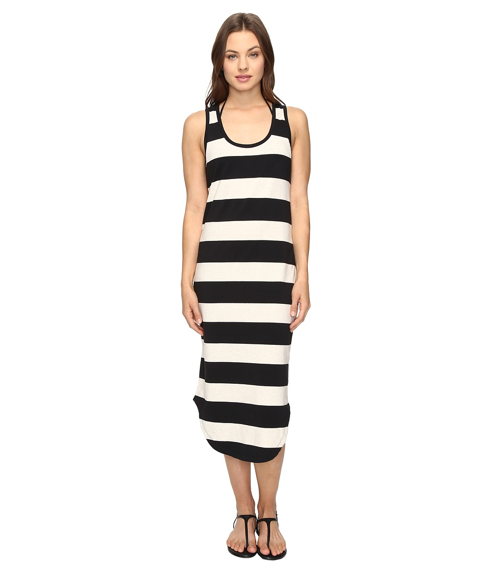 Seafolly - Marle Stripe Jersey Midi Dress Cover-Up (Black) Women's Swimwear