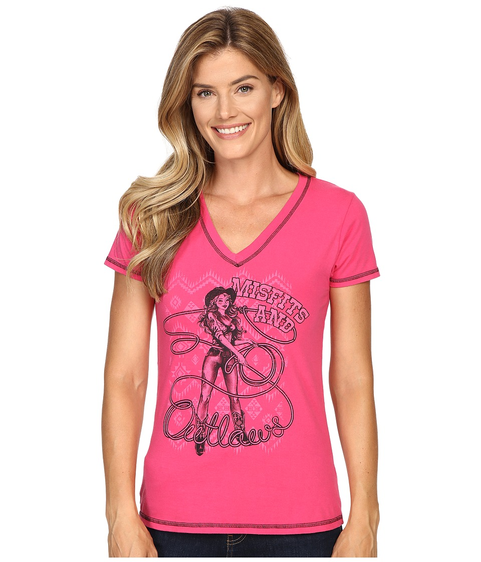 Cruel - Cotton Jersey with Screen Print (Pink) Women's Clothing