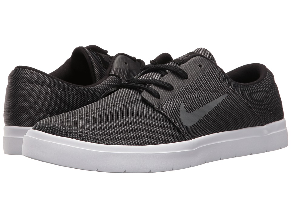 Nike SB - Portmore Ultralight Canvas (Black/Dark Grey) Men's Skate Shoes