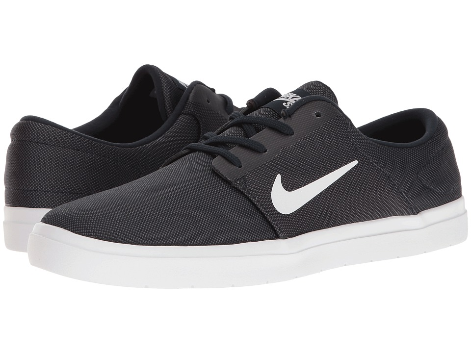 Nike SB - Portmore Ultralight Canvas (Obsidian/White) Men's Skate Shoes