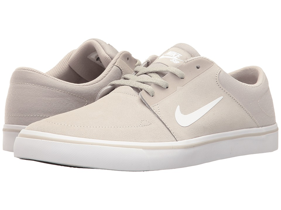 Nike SB - Portmore (Pale Grey/White) Men's Skate Shoes
