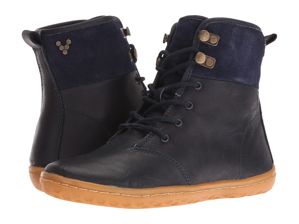 Vivobarefoot - Gobi Hi-Top (Navy Hyde) Women's Lace-up Boots
