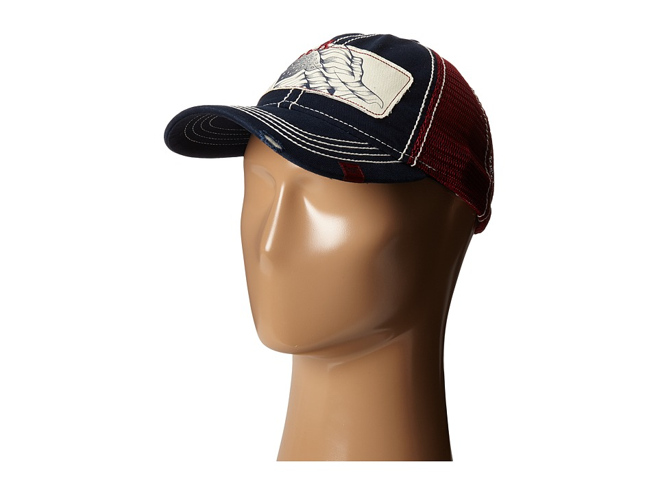 Cruel - Unstructured Mesh Trucker (Navy) Traditional Hats