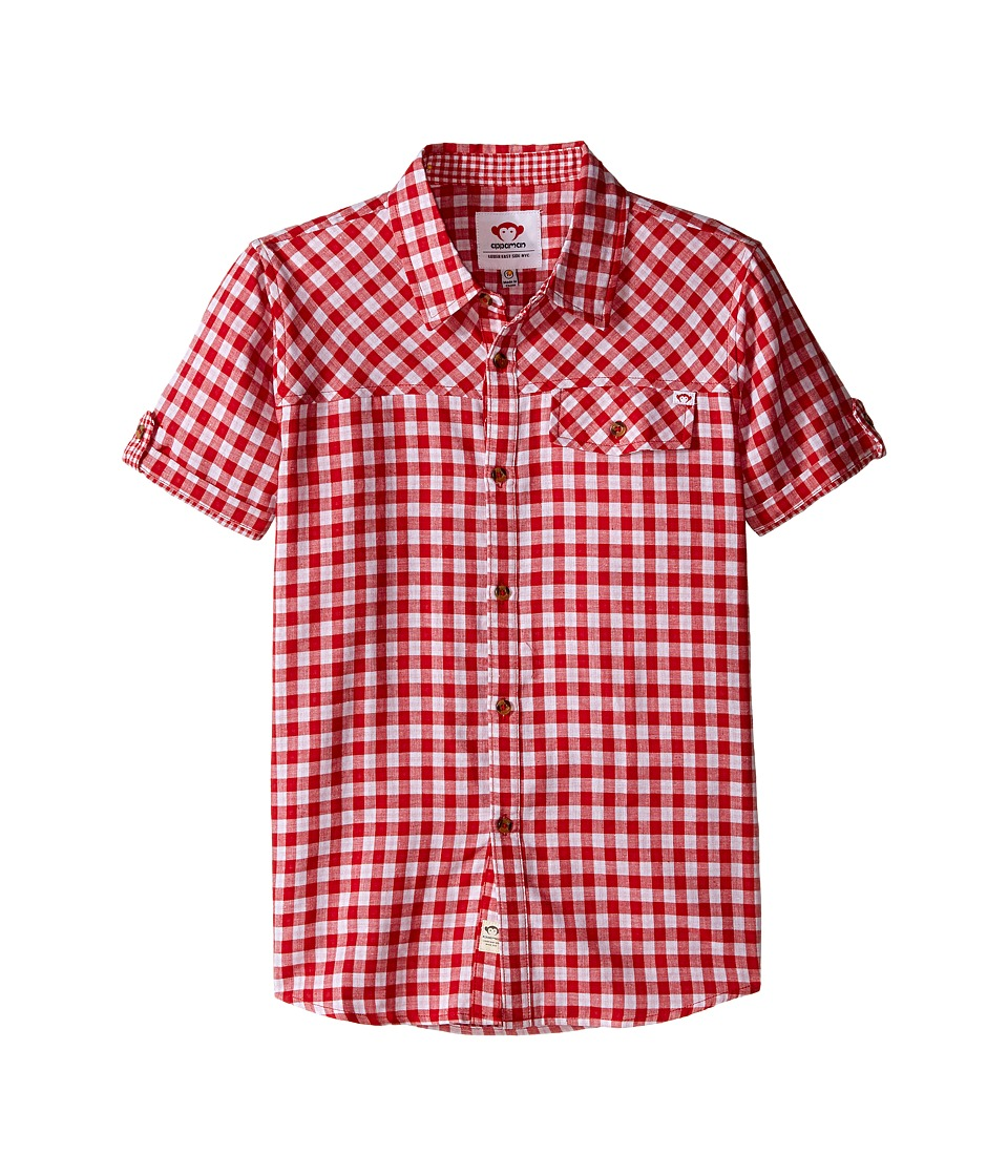 Appaman Kids - Ultra Soft Harvey Shirt with Contrast Lining Details (Toddler/Little Kids/Big Kids) (Red Check) Boy's Clothing