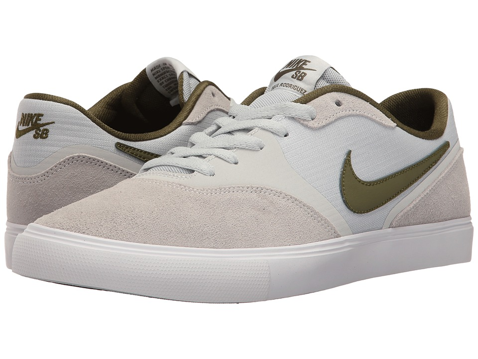 Nike SB - Paul Rodriguez 9 VR (Pure Platinum/Pure Platinum/Black) Men's Skate Shoes