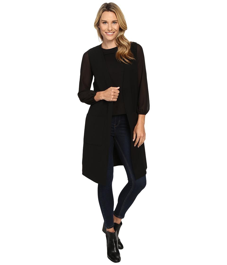Vince Camuto - Long Vest with Patch Pockets (Rich Black) Women's Vest