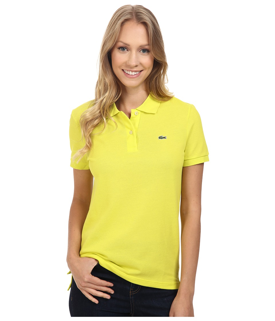 Lacoste - Short Sleeve Classic Fit Pique Polo Shirt (Lemon Tree) Women's Short Sleeve Knit