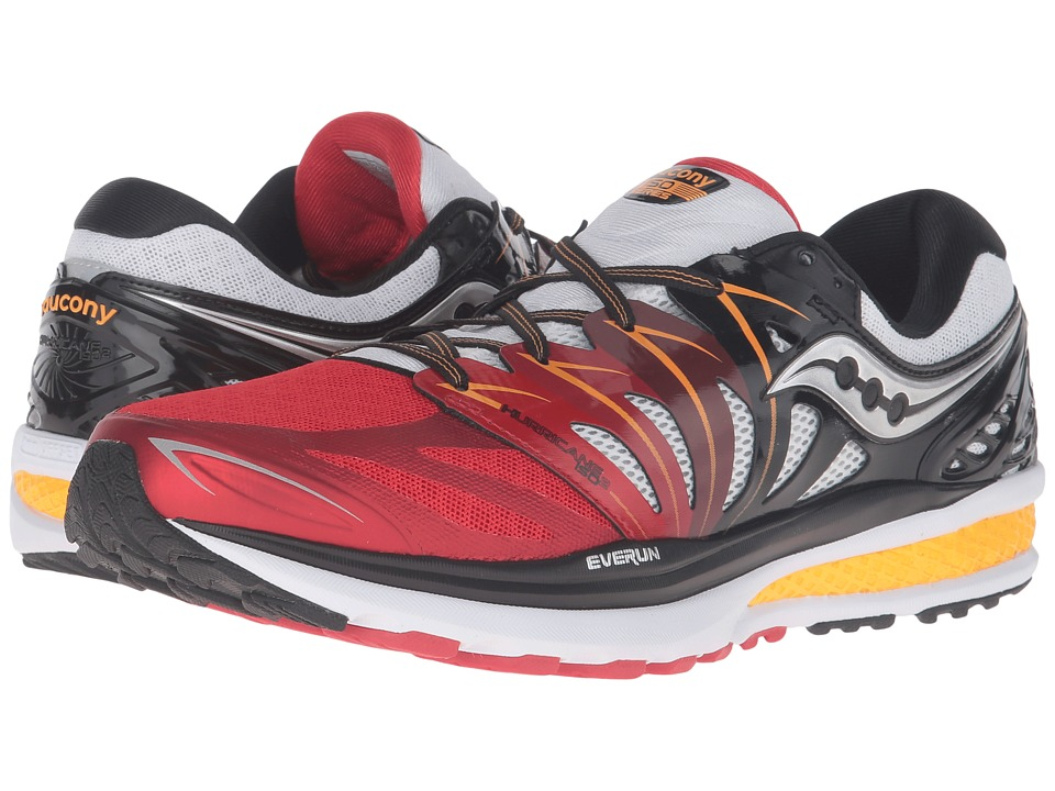 Saucony - Hurricane ISO 2 (Red/White/Orange) Men's Shoes