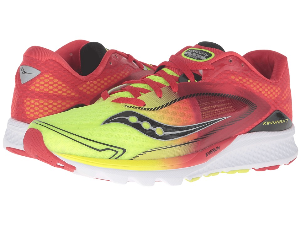 Saucony - Kinvara 7 (Red/Citron) Men's Shoes