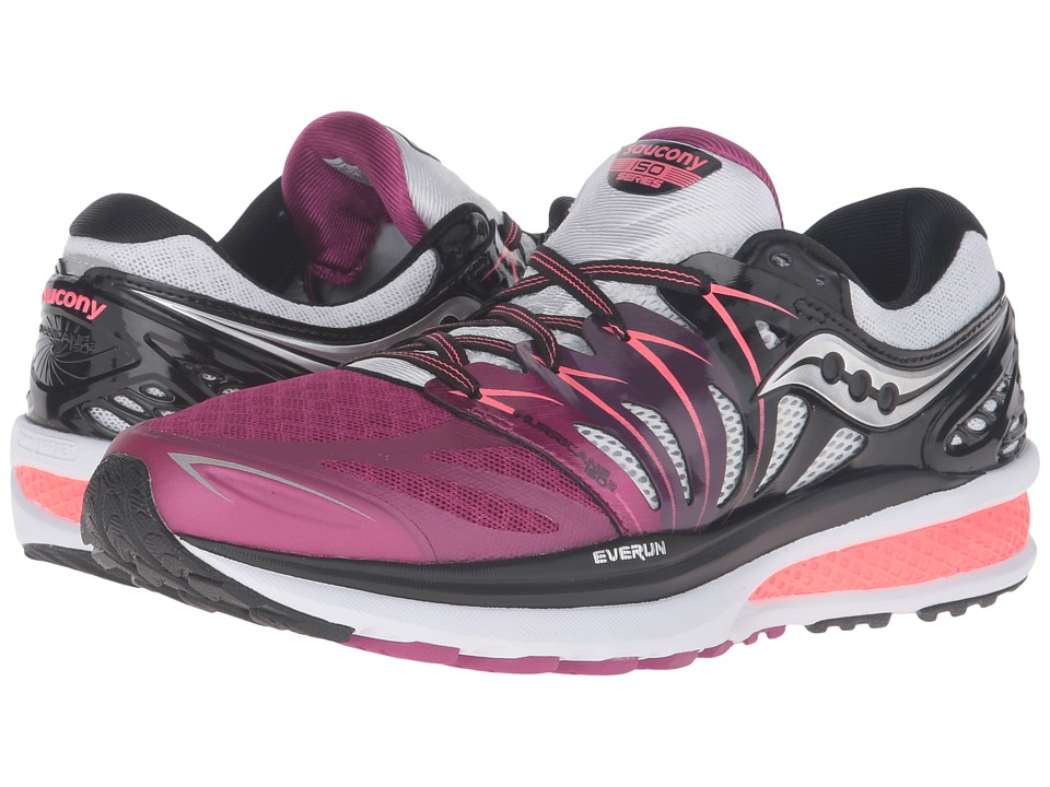 Saucony - Hurricane ISO 2 (Purple/Black/White) Women's Shoes
