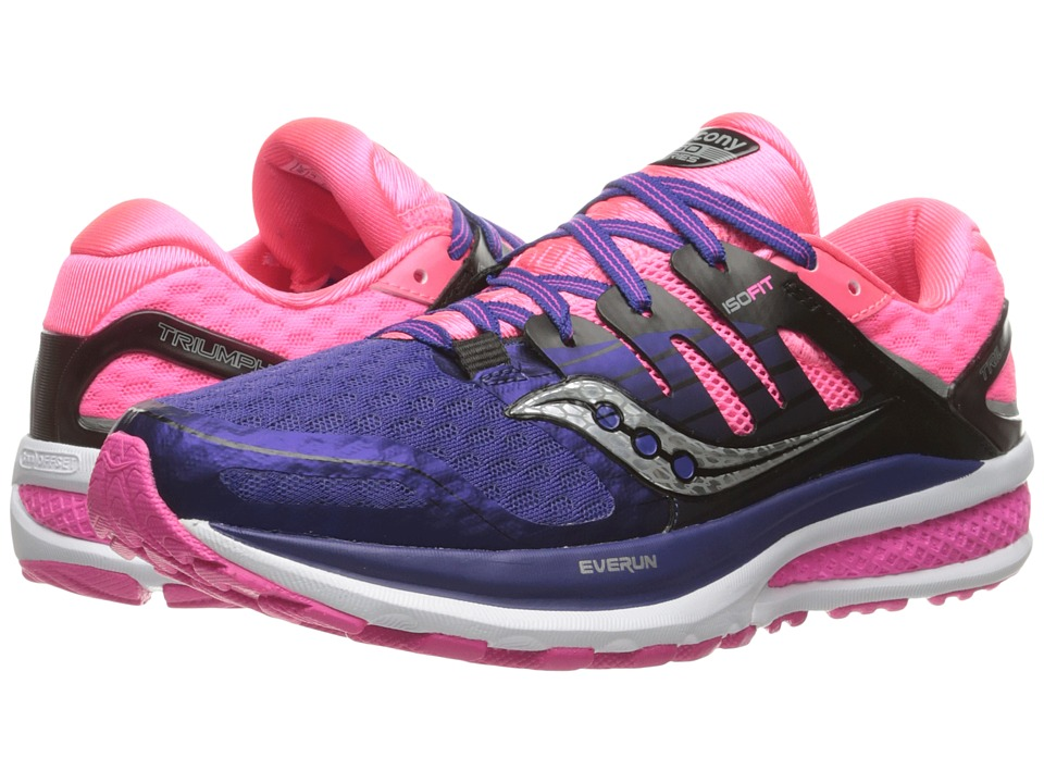 Saucony - Triumph ISO 2 (Purple/Pink/Silver) Women's Shoes