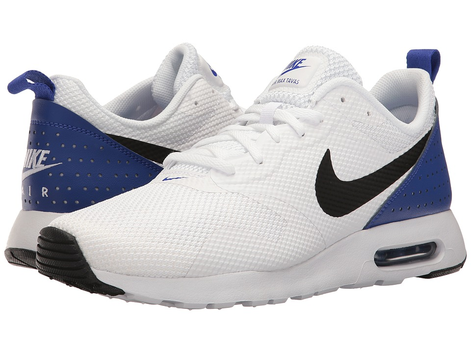 Nike - Air Max Tavas (White/Paramount Blue/Black) Men's Shoes