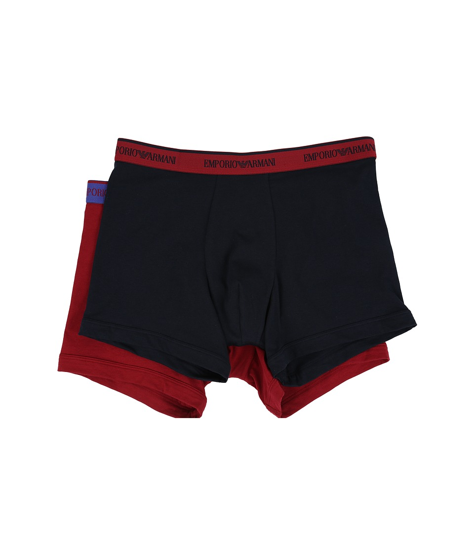 Emporio Armani - 2-Pack Colored Stretch Cotton Boxer Brief (Marine/Marine) Men's Underwear