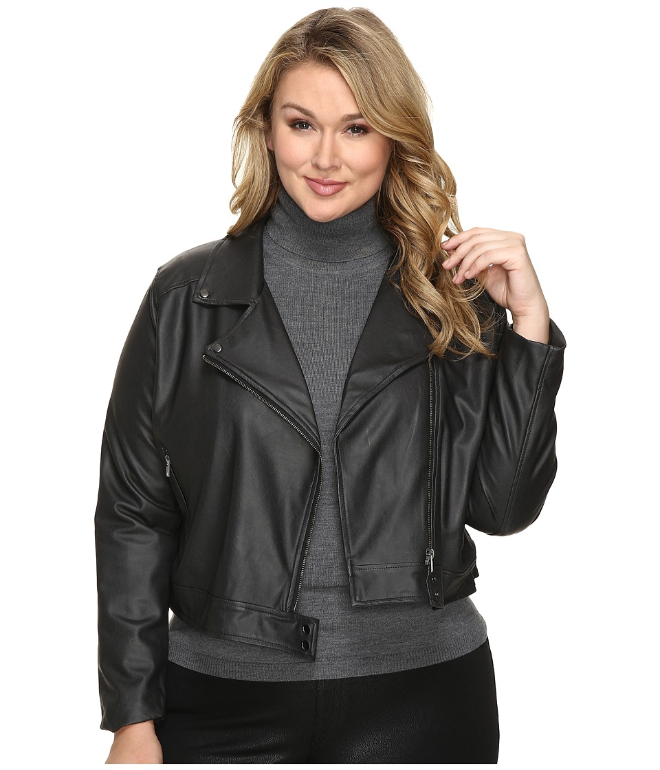 Lysse - Plus Size Belfast Jacket (Black) Women's Coat