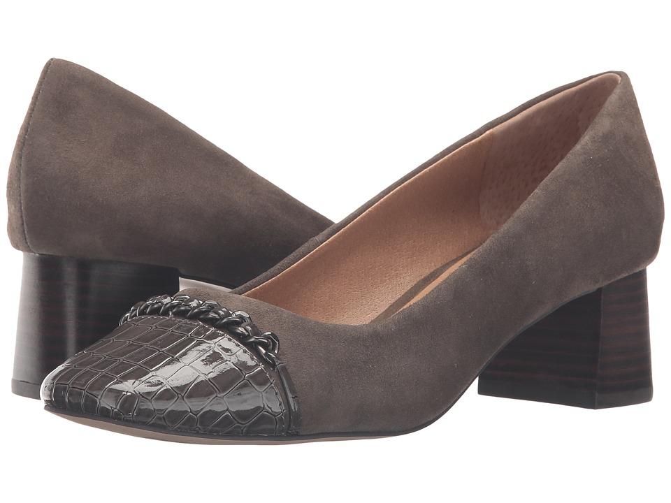 Tahari - Monte (Truffle/Slate Suede/Croco) Women's Shoes
