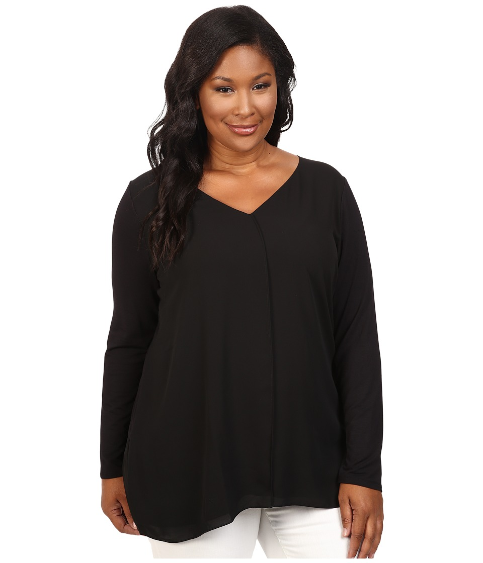Lysse - Plus Size Linden Long Sleeve Top (Black) Women's Clothing